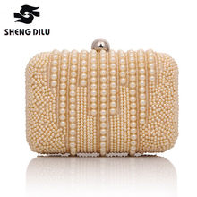 67ce3156ea0 Designer Fashion Clutches Women Evening Clutch Bags Wedding Bridal Handbag  Pearl Beaded Ladies Hand bag Fashion Woman Cluth Bag