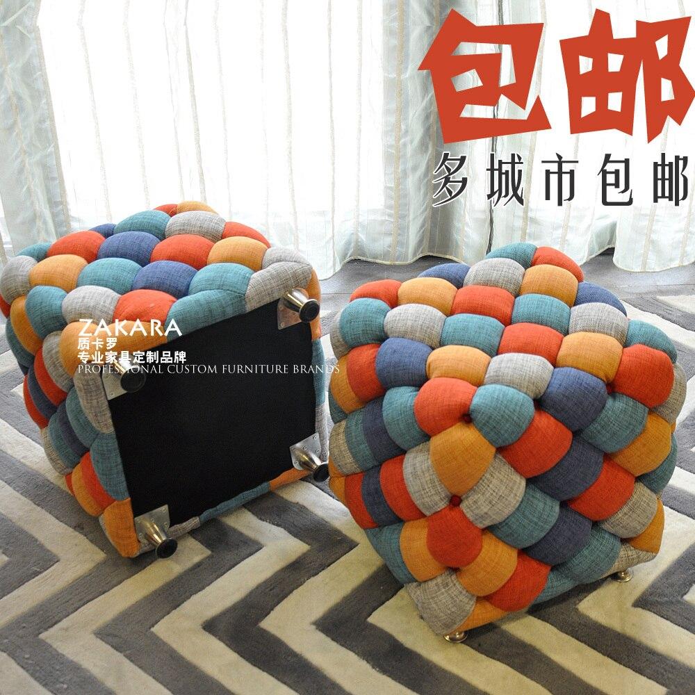 Unglaublich Sofa Patchwork Sammlung Von Quality Carlo Scandinavian Modern Fabric Stool Baidunzi