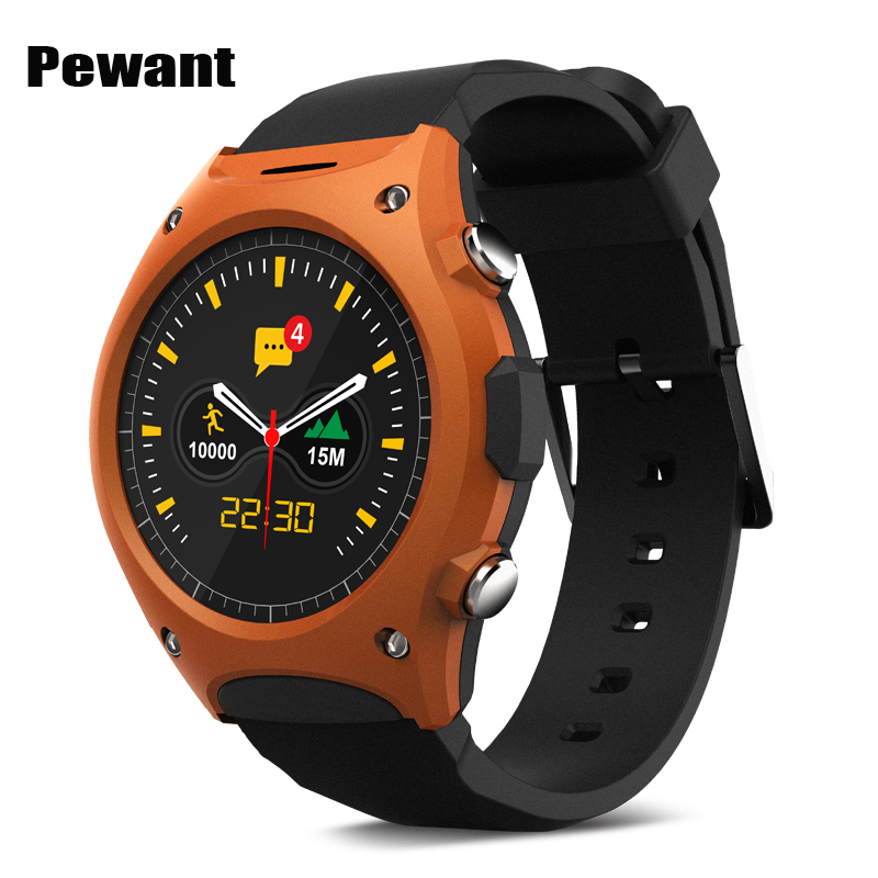Pewant Smart Watch Q8 Waterproof Sport Wristwatch MT2502 With Bluetooth G-sensor Heart Rate Compass Watch For IOS Android Phone relojes smart watch outdoor sport watch with heart rate monitor and compass waterproof watches for apple ios android one gift