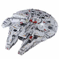 H&HXY IN STOCK 05132 Millennium 8445pcs Compatible 75192 Star Plan Series Ultimate Falcon Collectors Model Building Bricks Toys