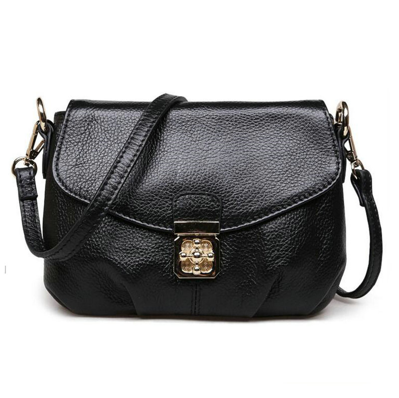 Hot ! 2017 fashion casual shoulder bag cross-body bag small vintage women's handbag 100% Genuine Leather women messenger bags