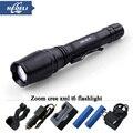 Portable zoom led flashlight high power 10W CREE XM-L T6 LED Flashlight lantern led Aluminum Torch Bike flashlight