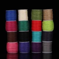 16 Colors 2mm100m Spool Linen Cord Elastic String Strap Bracelet Braided String Fit Necklace Bracelet DIY