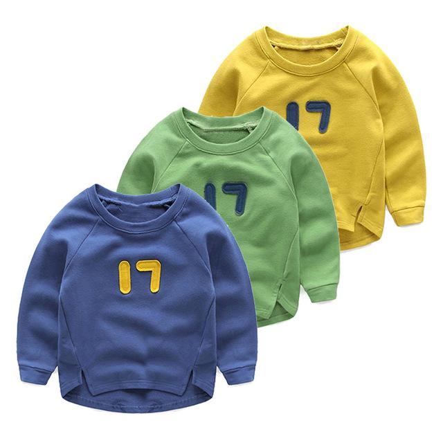 V-tree meninos tshirts do algodão primavera outono crianças bebê manga longa t shirt da criança bonito hoodies crianças moletom adolescentes pano