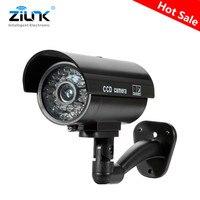 Поддельные пустышки камера пуля водонепроницаемый открытый Крытый безопасности CCTV камера наблюдения мигающий красный светодиодный беспл...