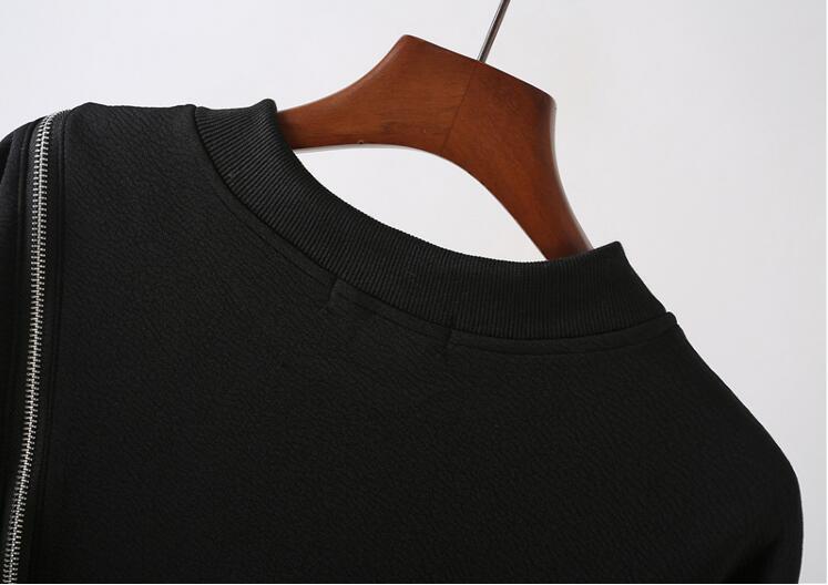 Бренд Tide, индивидуальная куртка, мужской сценический костюм для ночного клуба, мульти молния, круглый вырез, длинный рукав, футболка, мужская мода, джемпер - 6