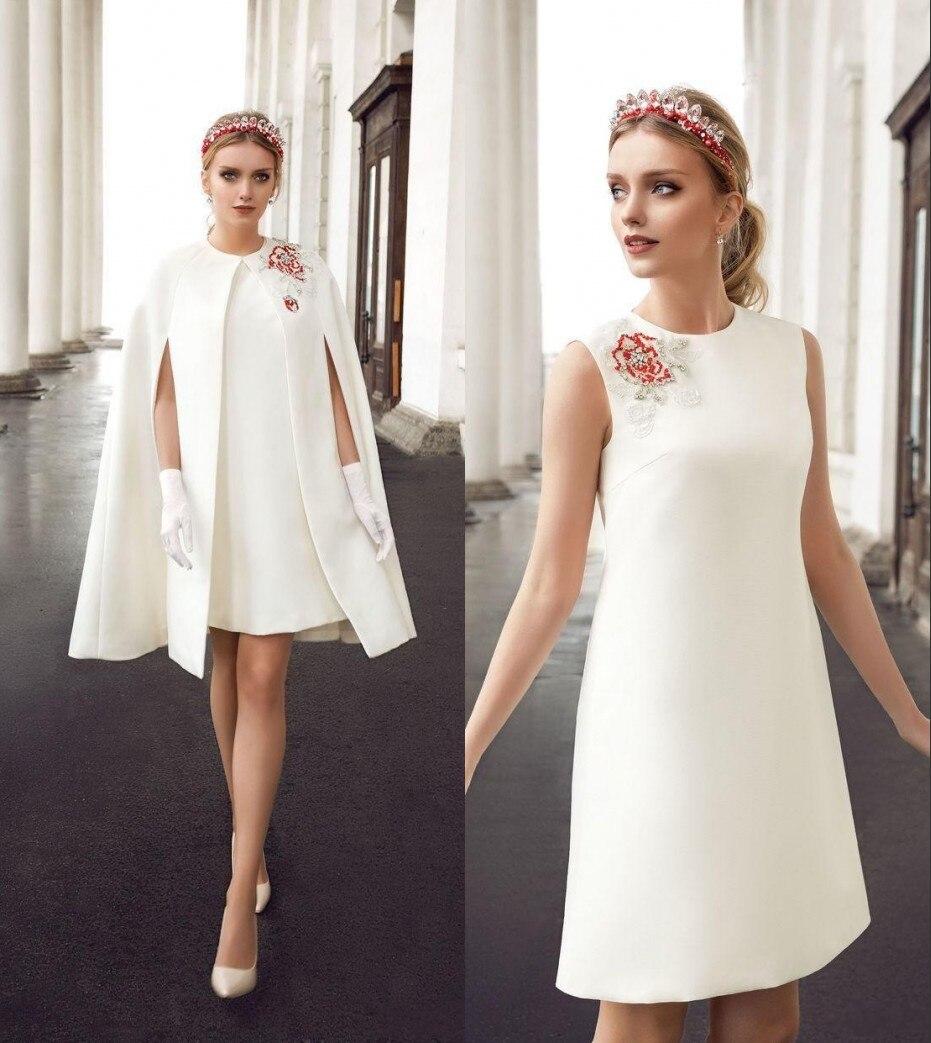 d74caf4a2 Vestido de cóctel 2016 vestidos de coctel corto blanco o cuello beadigs con  chaqueta de satén party dress vestido de festa curto en Vestidos de cóctel  de ...