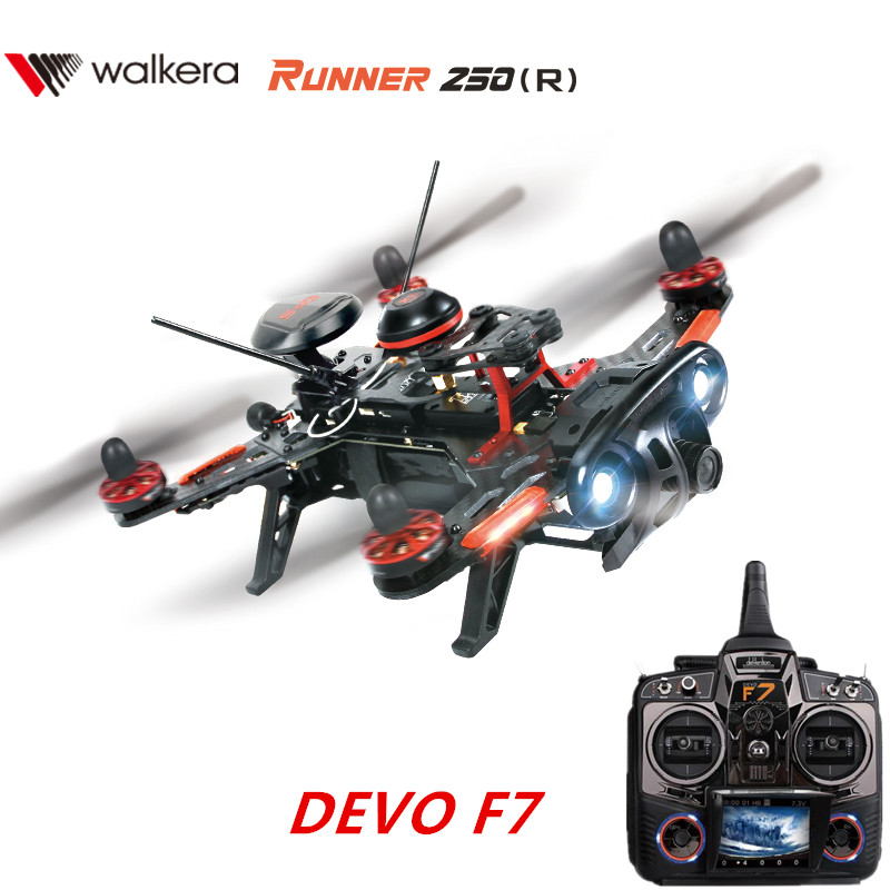 Walkera Runner 250 Advance FPV GPS RC Racing Drone Quadcopter 250(R)  with DEVO F7 FPV Transmitter / Camera / GPS RTF with two batteries yuneec q500 4k camera with st10 10ch 5 8g transmitter fpv quadcopter drone handheld gimbal case