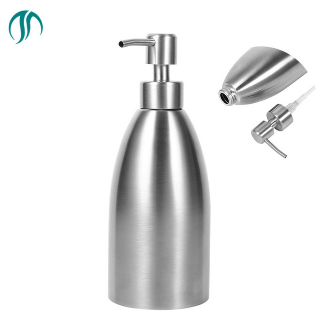 Modun 500ml 304 Stainless Steel Soap Dispensers Pump Hotel Liquid Dispenser Hand Container Shampoo