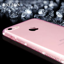 For Apple iPhone 7 6 6s Plus 5s SE Phone Case Luxury Diamond Transparent Soft TPU Cover Case Capa Coque For iPhone 7 Plus