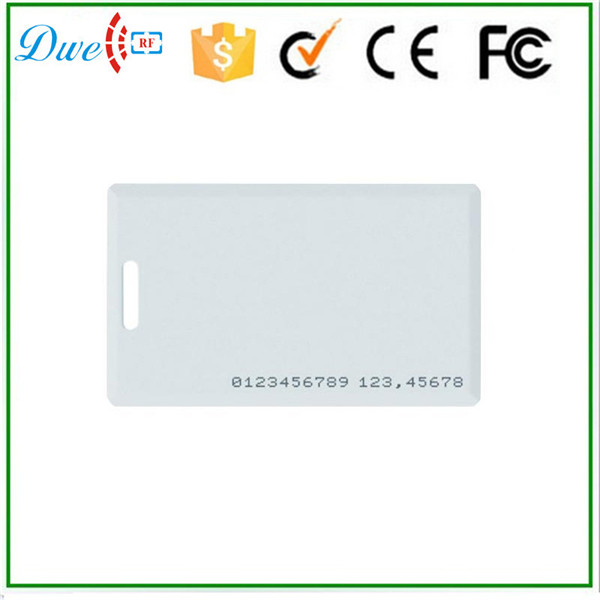DWE CC RF 125kHz ABS PVC Plastic Thick Proximity Smart ID Cards EM4200 winfeng 2000pcs lot cmyk color pvc snap off keychain combo cards plastic die cut combo cards with barcode