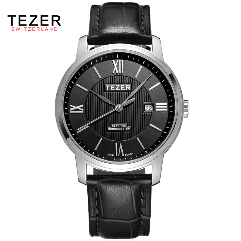 TEZER Brand Men Watches Men'S Quartz Date Clock Male Leather Sports Watch Casual Military Wrist Watch Relogio Masculino AB1961 curren luxury brand relogio masculino date leather casual watch men sports watches quartz military wrist watch male clock 8224