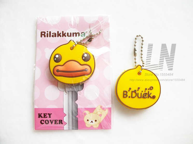 Alta qualidade dos desenhos animados anime bonito chave capa de silicone mickey stitch urso chaveiro presente das mulheres coruja porte clef minne chaveiro