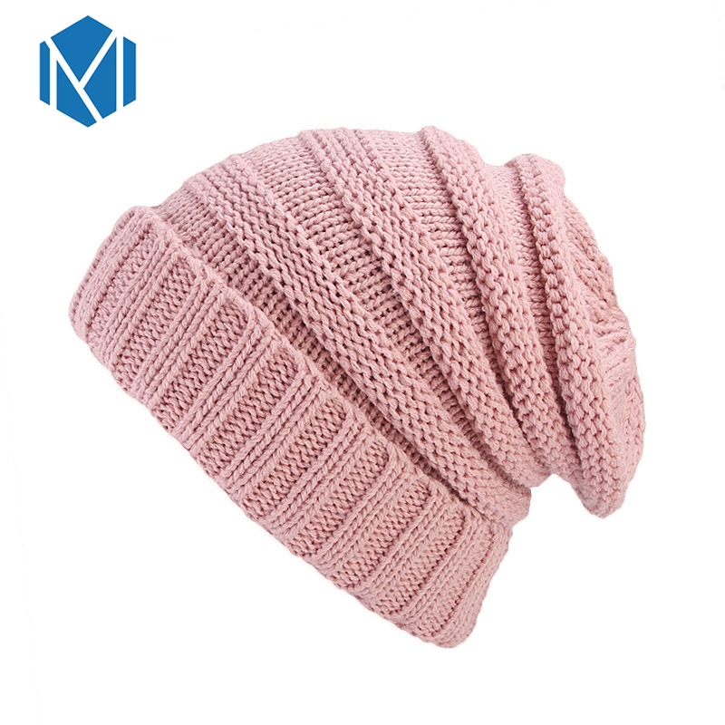 48c6798a0c2b1 ... Winter Hats for Women Stacking Knitted Hat Casual Unisex Solid Color  Knitting Wool Spring Hat Hip