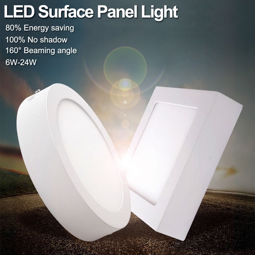 Glorious 2018 New Tsleen Cool Warm White Led Surface Panel Light Ultra-slim Ceiling Lamp 6/12/18/24w Ac 85-265v Spot Lamps Fixture+driver Ceiling Lights & Fans