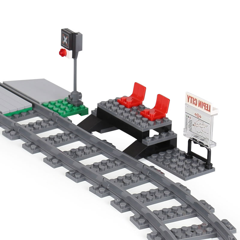 W magazynie pasażerski kompatybilny z 60051 02010 miasto pociąg klocki klocki zabawki dla dzieci prezenty w Klocki od Zabawki i hobby na  Grupa 2