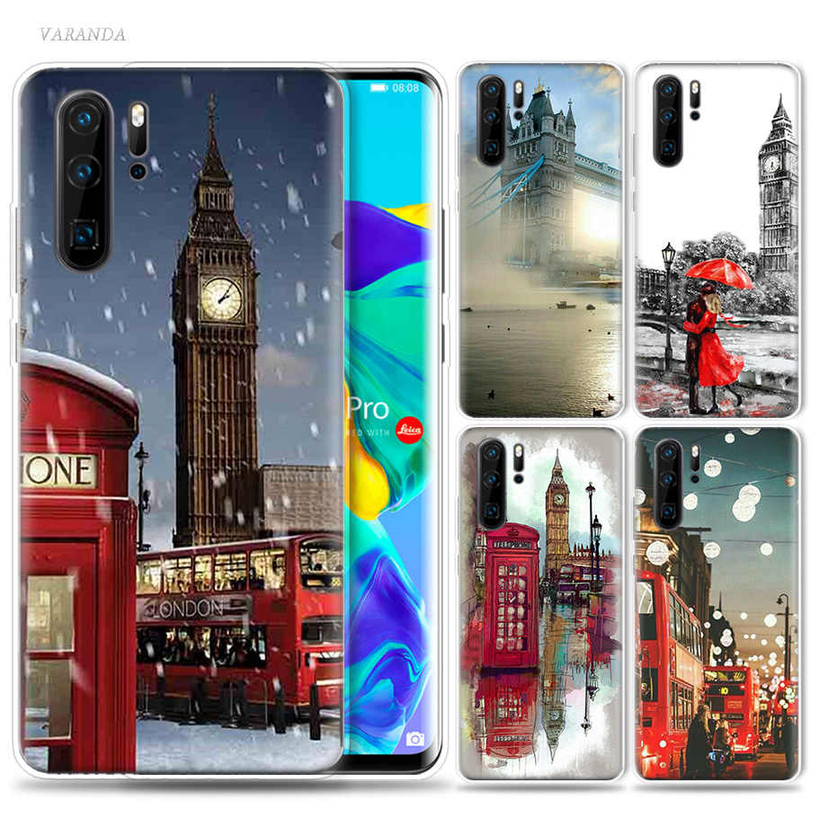 De moda de la ciudad de Londres Eiffel caso de Huawei P20 P30 P Smart Z Plus Nova 5 5i P10 P9 Mate 10 bolsas de teléfono de silicona 20 lite Pro Capa