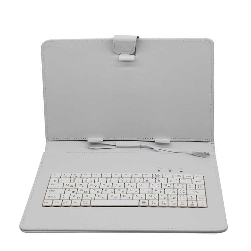 10 inç ve 10.1 Inç Klavye deri kılıf Durumda Rahat Katı Su Geçirmez Damla Direnci rusça klavye Tablet Pc Kullanımı için
