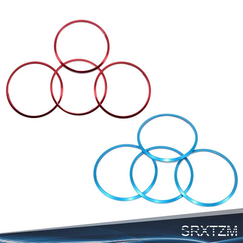 4 Pieces Red Aluminium Wheel Center Hub Ring Trims Fit For Mazda 3,6,CX-3,CX-5