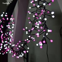 Tanbaby 3M 400 Milky Ball Firecracker LED String Light Rattan Branch W/ Globe Ball Fairy Light For New Year Christmas Decoration