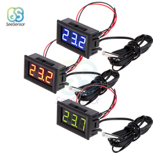 -50~110C Digital LED Thermometer Temperature Meter Detector Sensor Probe DC 12V Digital Thermometer Monitor Tester цена