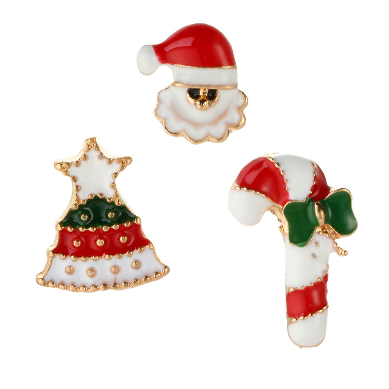 DoreenBeads Christmas Gift Santa Claus Tree Badges Enamel Pin Brooch for Kids Women T Shirt Collar Sweater Coat Scarf Hat Decor