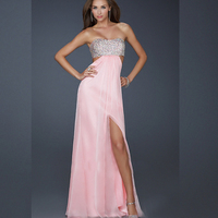 DoreenBow Polyester Sexy Dress Summer Style Hollow Out Split The Fork Strapless Women Evening Party Fashion
