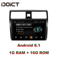 IDOICT Android 8,1 автомобильный dvd плеер gps навигация Мультимедиа для Suzuki Swift Радио 2008 2015 автомобильный стерео wifi bluetooth