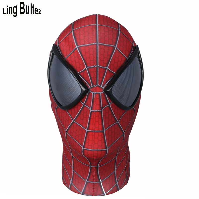 Ling Bultez High Quality New Spiderman Mask With Mirror Lens Amazing Spiderman Face Mask