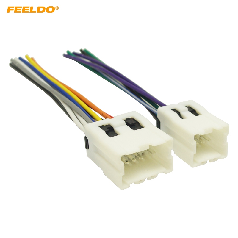 Feeldo 5pair Car Radio Audio Power Wiring Harness Adapter