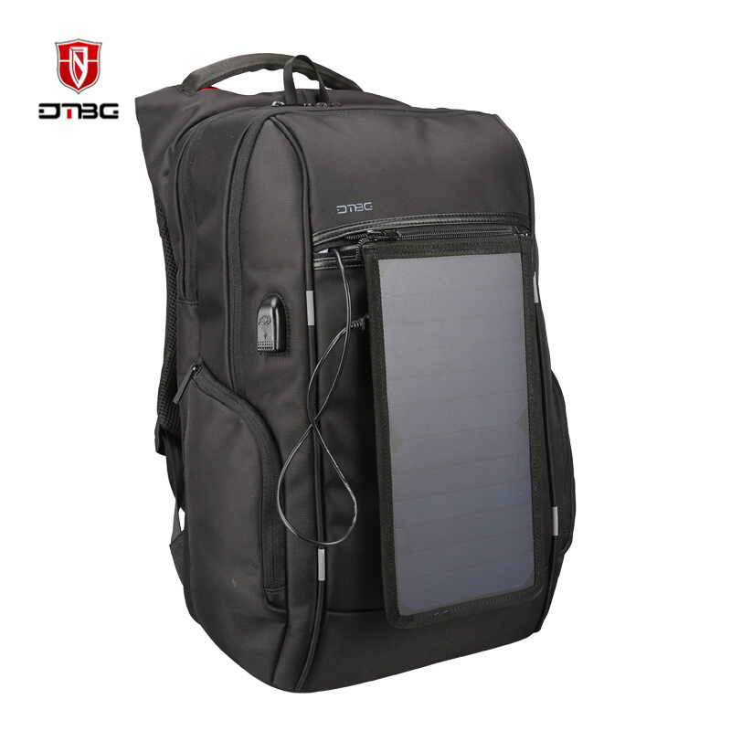 DTBG Multifunction Solar Energy Backpack Anti Thief Waterproof 17.3 inch Laptop USB Charging Backpack Leisure Travel BagsDTBG Multifunction Solar Energy Backpack Anti Thief Waterproof 17.3 inch Laptop USB Charging Backpack Leisure Travel Bags