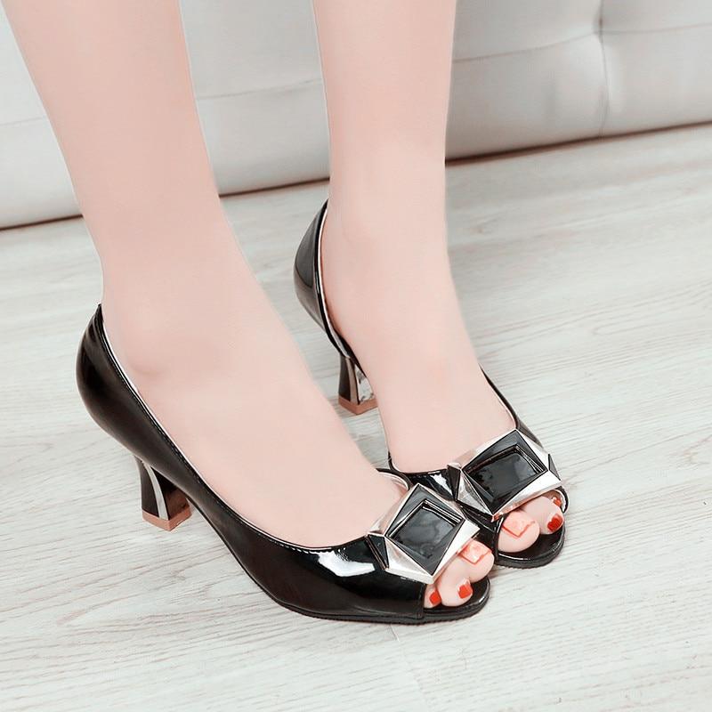 PHYANIC New Designer Shoes Women Black Open Toe Women Pumps Shoes High Heel Stilettos Elegant Office Career Dress Shoes