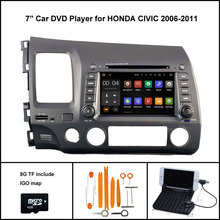 Android 7.1 4 ядра автомобильный DVD для Honda Civic 2006-2011 Авто Радио Стерео 1024×600 экран WI-FI/ 3G + DSP + RDS + 16 ГБ flash