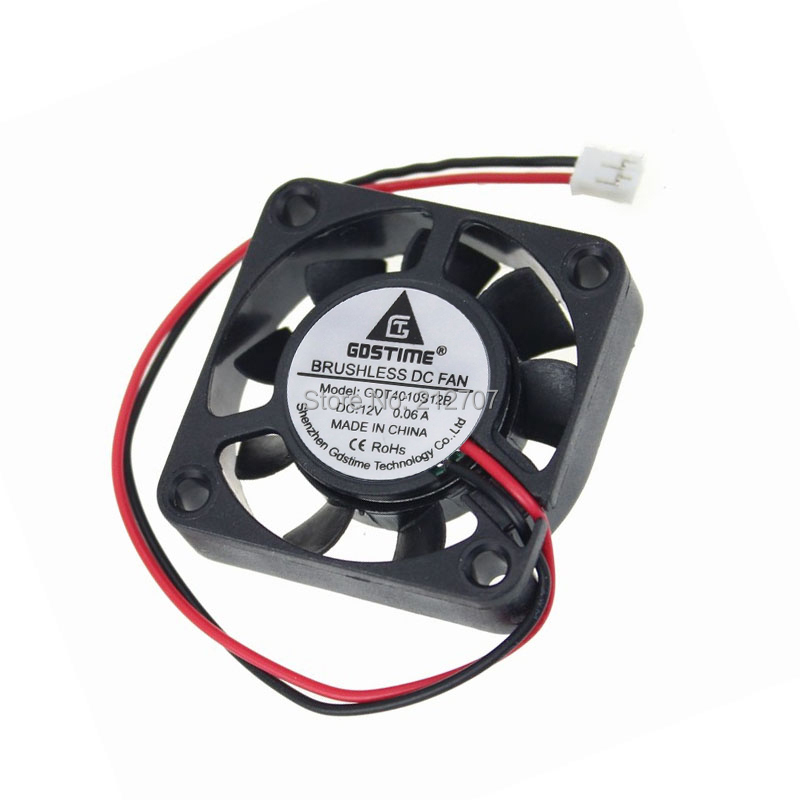 50PCS Gdstime Mini Cooling Cooler Air Ventilation Fan DC 12V 2Pin 4010 40mm 4cm 40 x