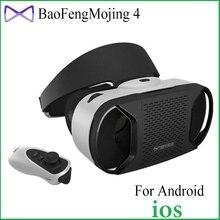 B aofeng mojing iv 4 vrชุดหูฟัง3dแว่นตาgoogleกระดาษแข็งสำหรับมาร์ทโฟนความจริงเสมือน3dส่วนตัวโรงละคร+บลูทูธgamepad