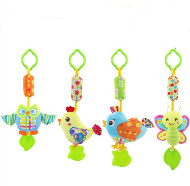 f82d8c34a Cartoon animal Baby rattle mobile musical with teether brinquedos juguetes para  bebes jouet early educational toys