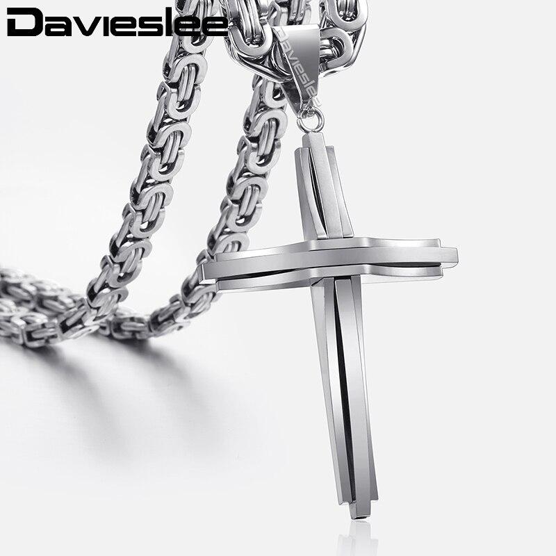 aafc596a35ec Collare INRI crucifijo Cruz collar de oro oro rosa Negro arma de Color 316L