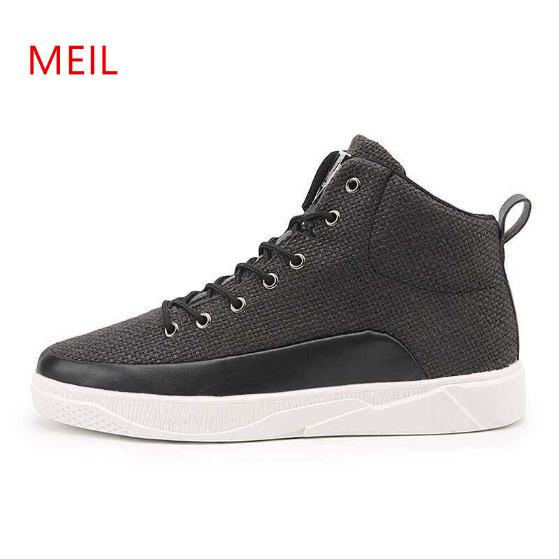 ea89700d88 2018 Fashion Brand High top Casual Shoes Men Breathable Tenis Trainers  Human Race Canvas Man Sneakers Footwear Chau