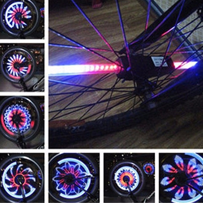 Cycling 36 Led Light for Bike Spokes Waterproof Bicycle Wheel Light Cool Color Changing Bike Tire Lamp Bike Bicycle Light