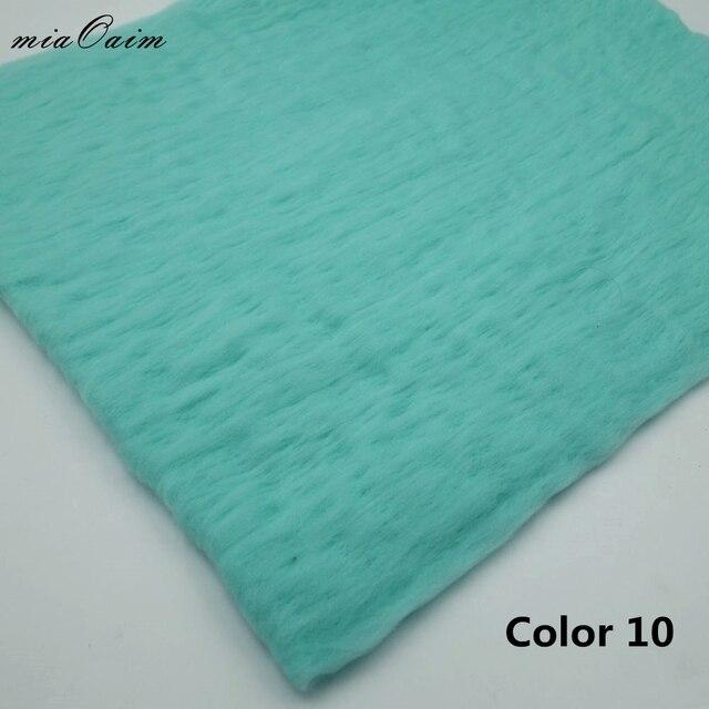 5pcs/ Fluffy Wool Felt Fleece Blanket Filler Stuffer Layer Backdrop Newborn Photography Props Baby Shower Gift For Maternity