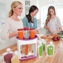 Новорожденный контейнеры для детского питания для хранения ребенка кормление Производитель поставки детское питание Фруктовый Сок чайник легко чистить дети изоляционные мешки