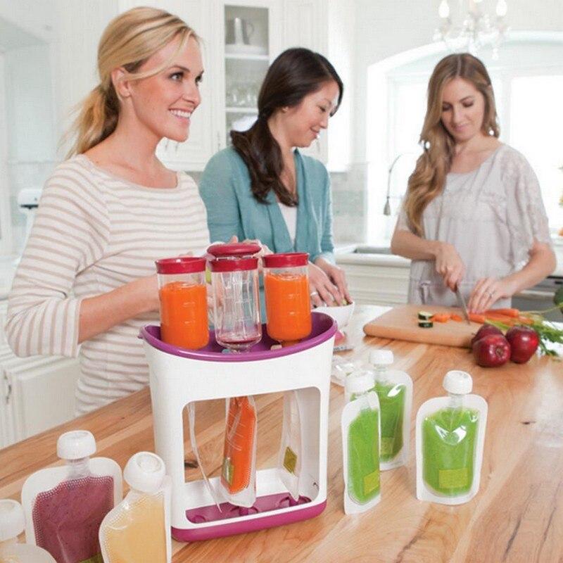 Nouveau-né Bébé Alimentaire Conteneurs De Stockage Bébé Alimentation Maker Fournitures Bébé Alimentaire Jus De Fruits Maker Facile Propre Enfants Isolation Sacs