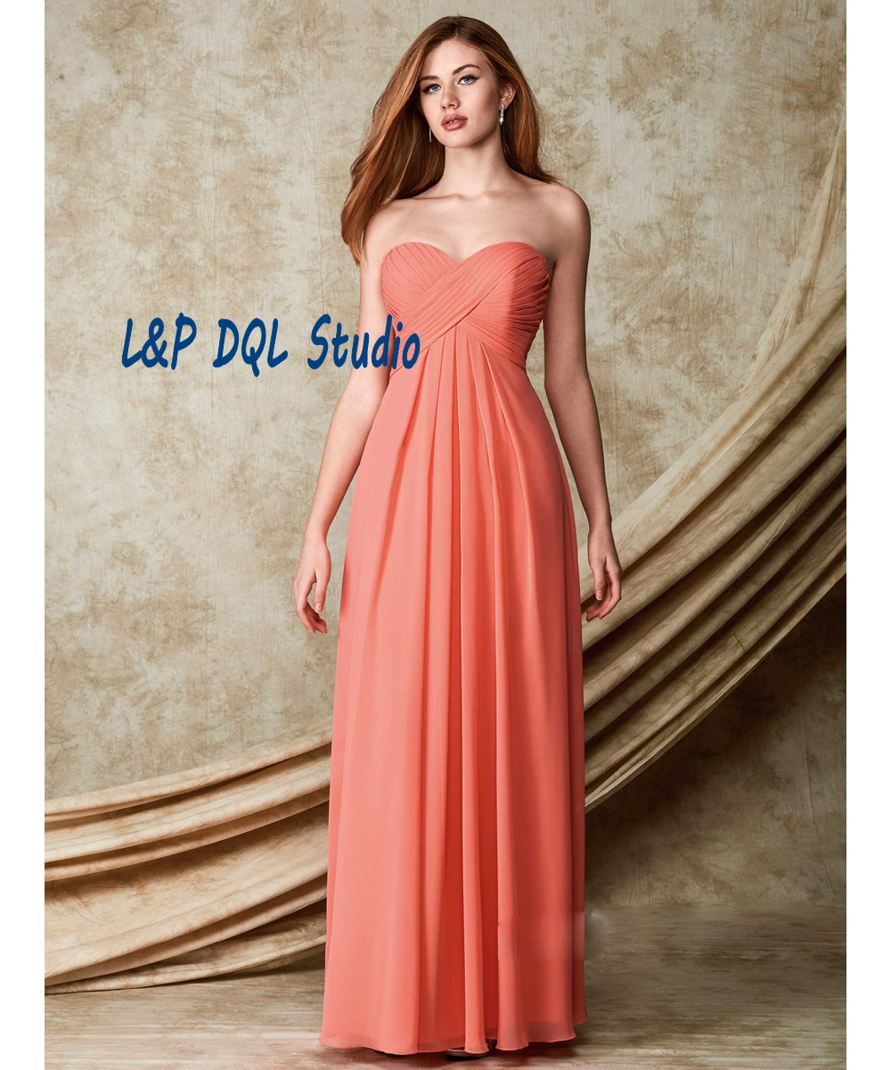2016 Fancy Long Bridesmaid Dress Yellow Sweetheart Sleeveless Backless  Draped Long Wedding Party Dresses Custom Made 73294c3eef43