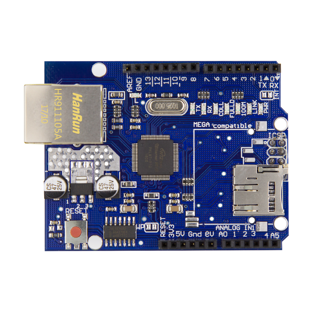 Ethernet Shield W5100 R3 UNO Mega 2560 1280 328 UNR R3 W5100 Développement conseil uno Bouclier