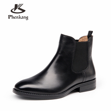 Genuine cow Leather Ankle chelsea Boots women Comfortable quality soft Shoes Designer Handmade 2018 winter black brown with fur women winter boots genuine cow leather ankle comfortable quality soft shoes brand designer handmade winter boots black with fur