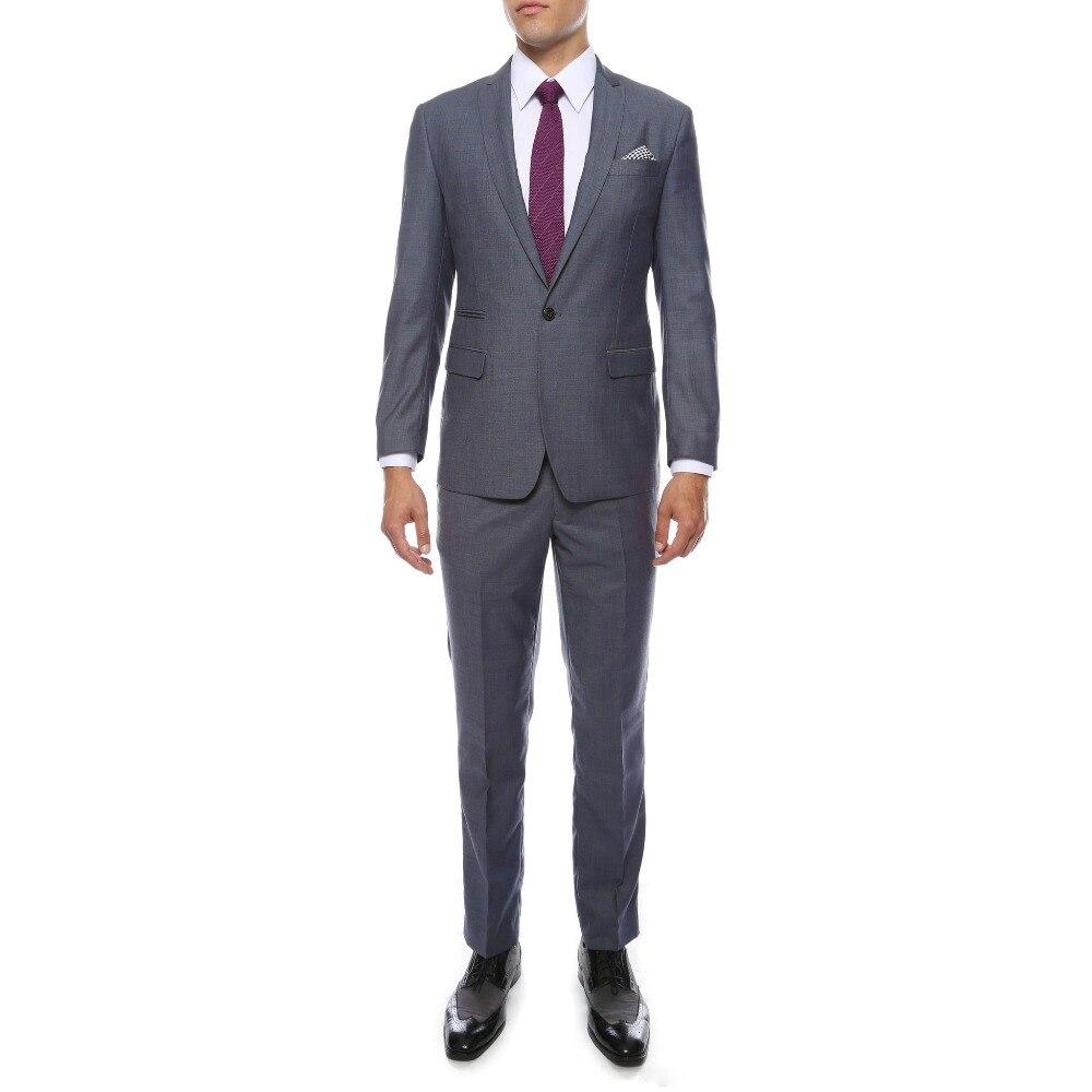 Custom Made Mens Grey Slim Fit Groom Tuxedos 2019 New Groomsmen Wedding Prom Suits (Jacket+Pant)