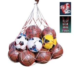 Outdoor sporting Soccer Net 10 Balls Carry Net Bag Sports Portable Equipment Football Balls Volleyball ball net bag 1Pcs(China)