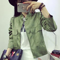 2016 Autumn New women jacket Retro Suede Casual Jacket  solid color Cardigan Coat 6 Colors