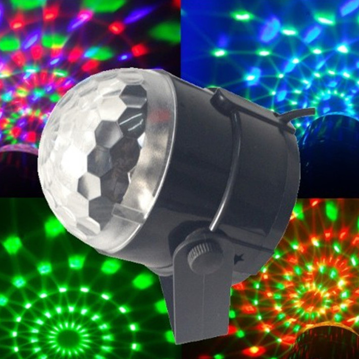 3W Mini RGB LED Projector DJ lighting Light dance Disco Voice-activated Crystal Magic ball bar Party Christmas Stage Lights Show