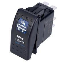 1pcs Led Car Switch Boat Truck Light Toggle switch 5pin Waterproof 12/24V Bar Style Blue Toggle Rocker Reverse Rear Light Switch